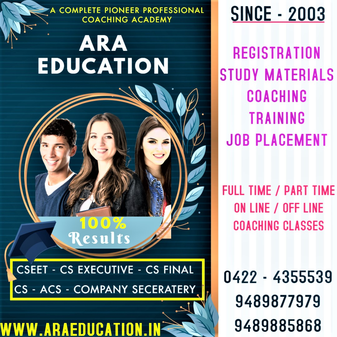 CS Executive Classes Admissions is in Open