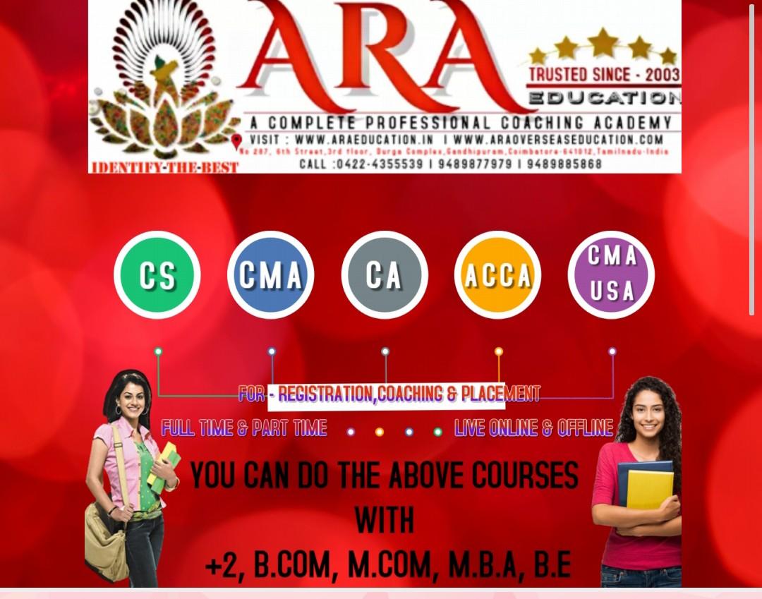 Best NO 1 CSEET CS CA CMA ACCA USCMA Coaching classes in coimbatore tamilnadu india