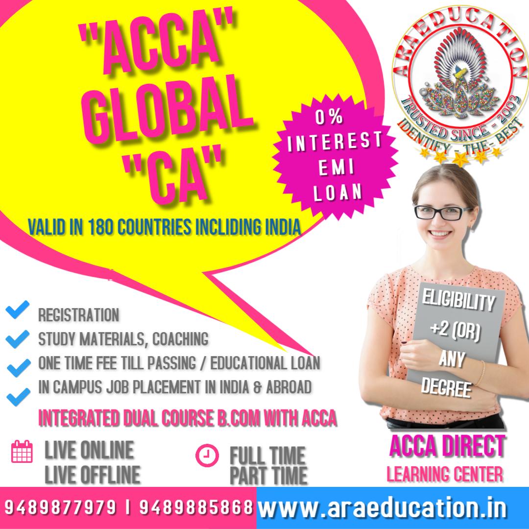 ACCA Coaching center institute academy classes in coimbatore tamilnadu