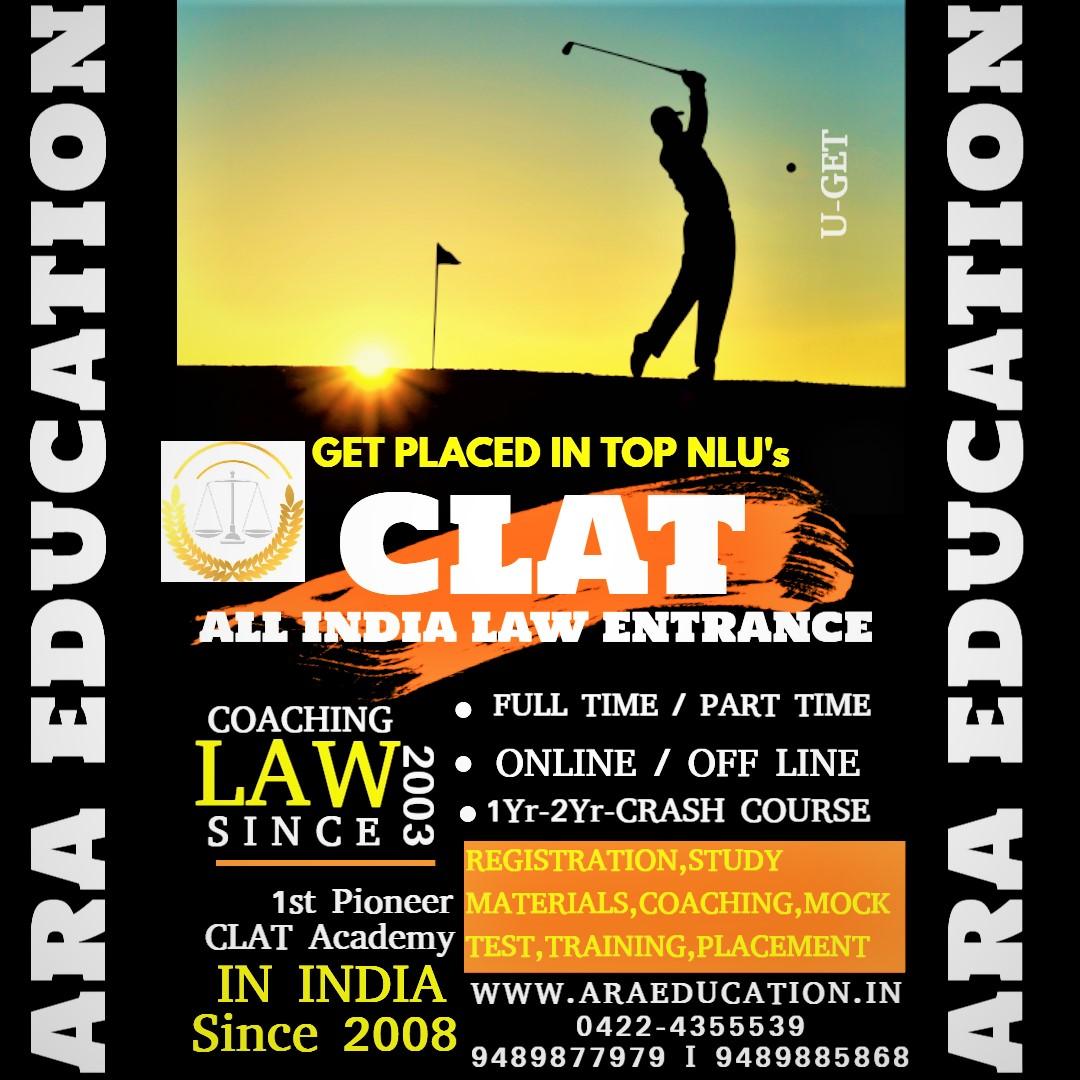 Clat Law entrance Coaching Center Academy Institute in coimbatore Tamilnadu India