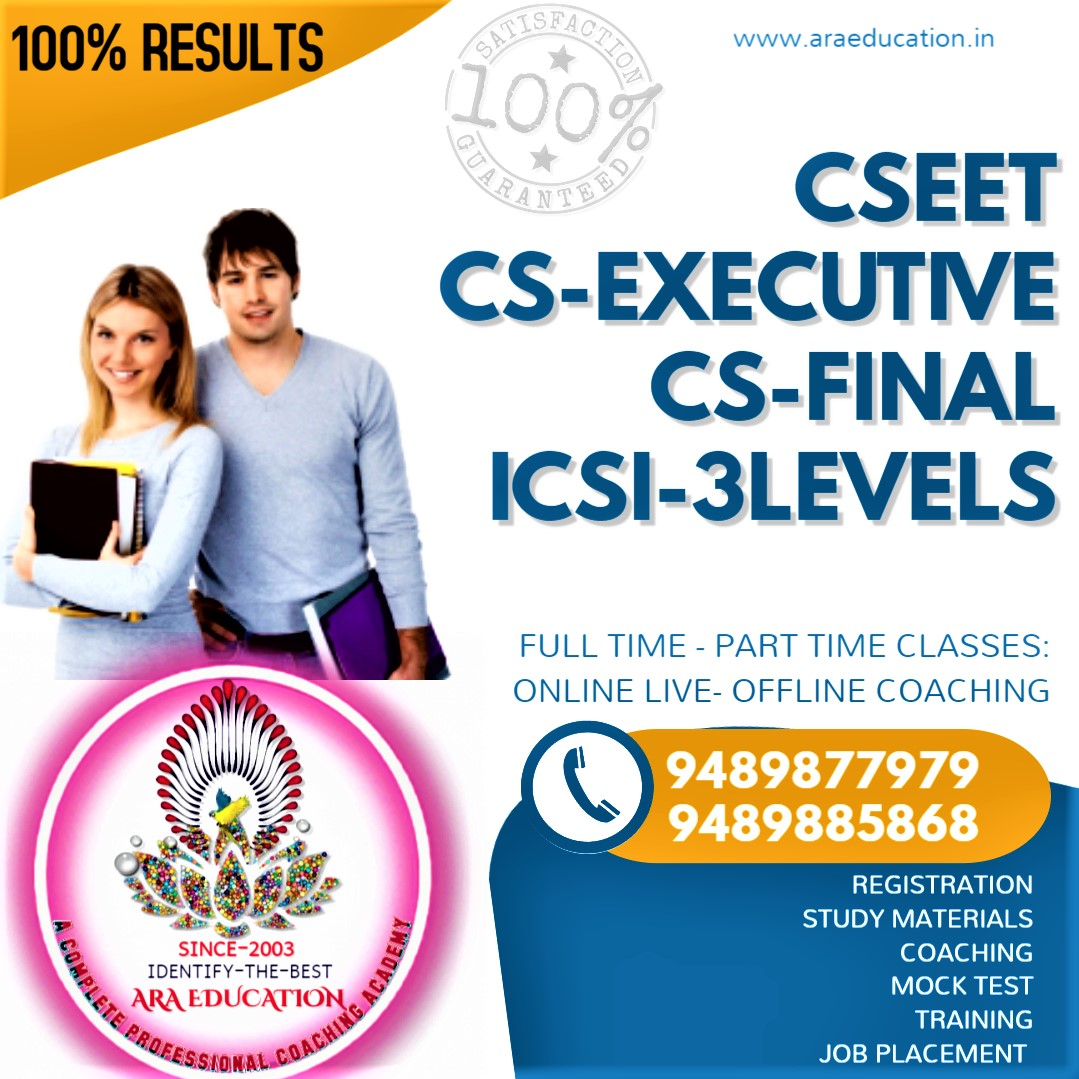 Admissions Opened For CSEET CS Executive CS Final  Join Soon No 1 Coaching Institute for CS