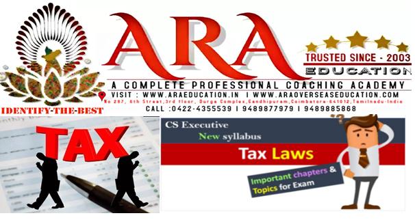 CS Executive Tax Laws Notes Free Download ARA EDUCATION