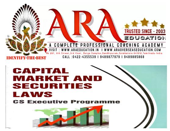 CS Executive Securities laws Capital Markets Notes  Free Download ARA EDUCATION