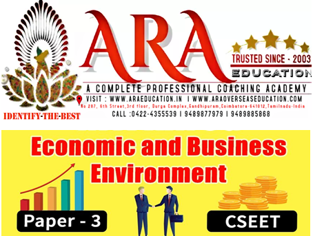 CSEET  Economic and Business Environment Notes Free Download ARA EDUCATION