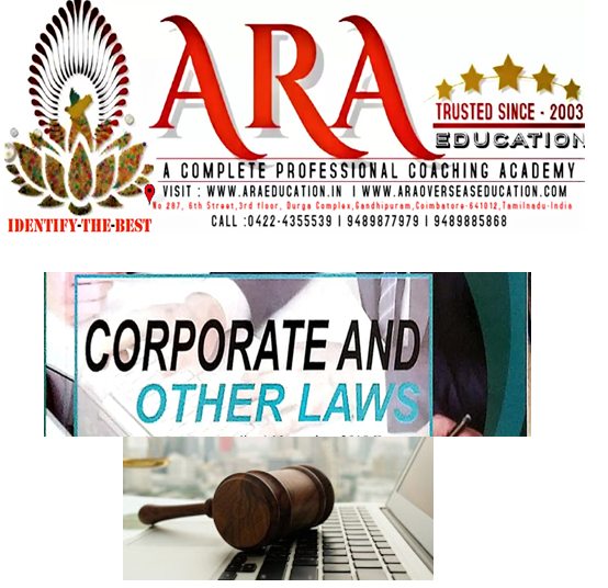 CA Inter Corporate and Other laws Notes Free Download