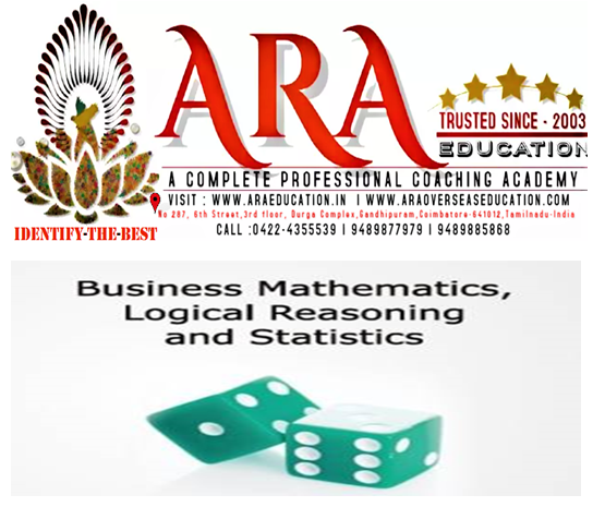 CA Foundation Business Mathematics Logical Reasoning and Statistics Notes Free Download